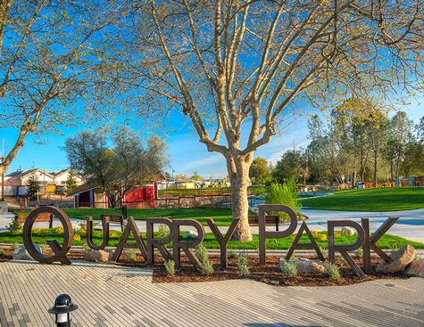 22 acre quarry park site on a sunny day in rocklin, california