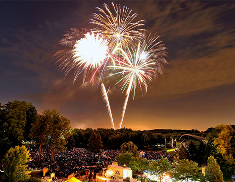 fireworks display at the music for plymouth event in plymouth, minnesota