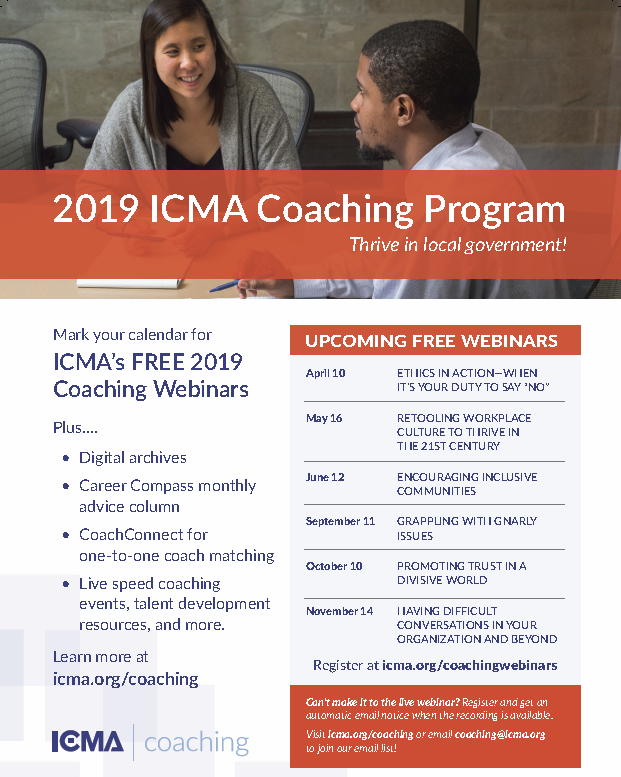 2019 Coaching Webinar Flyer