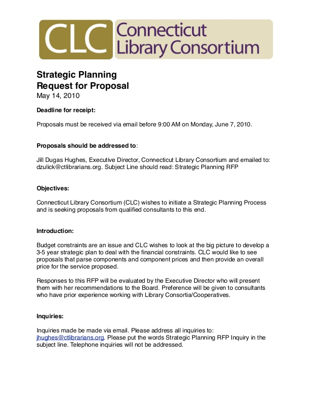 Sample Library Strategic Planning RFP - CLC | icma org