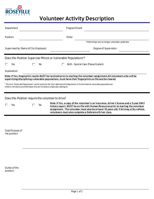 Volunteer Job Description Form on volunteer application, volunteer hours, volunteer orientation, volunteer job posting, volunteer experience, volunteer training, volunteer recruitment, volunteer goals, volunteer schedule, volunteer description cartoon,