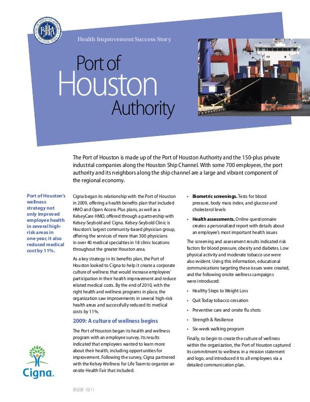 Port of Houston Authority - Health Improvement Success Story | icma org