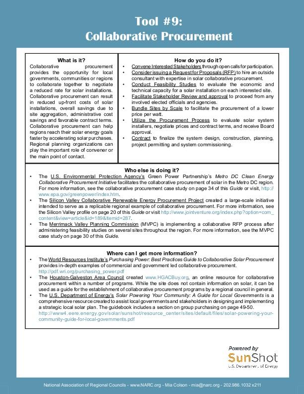 Center For Collaborative Classroom Jobs ~ Collaborative procurement fact sheet icma
