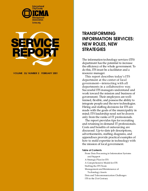 Transforming Information Services: New Roles, New Strategies