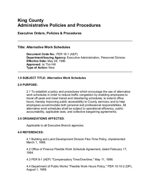 Alternative Work Schedule Policy | icma org