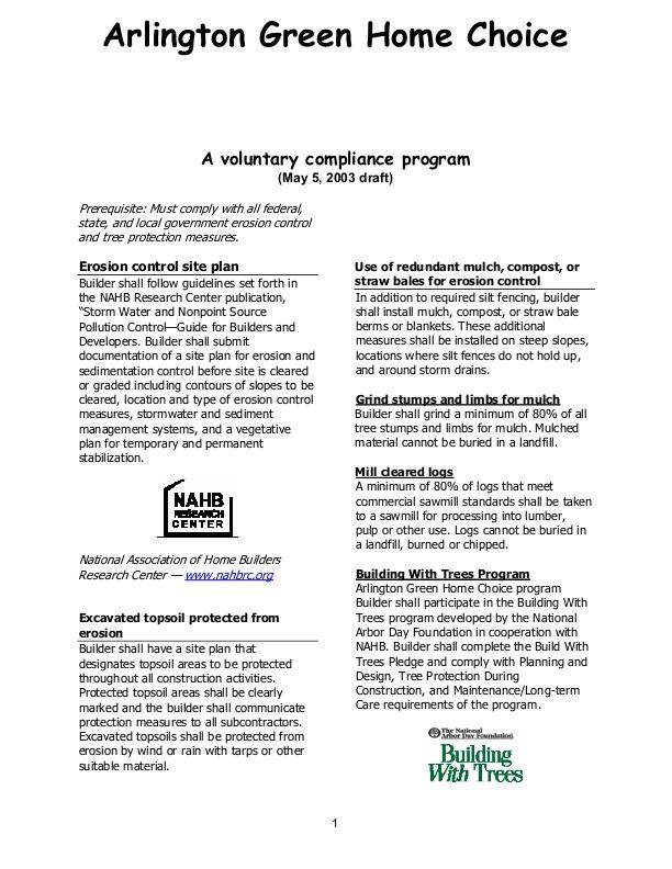 Green Home Choice Guide | icma org