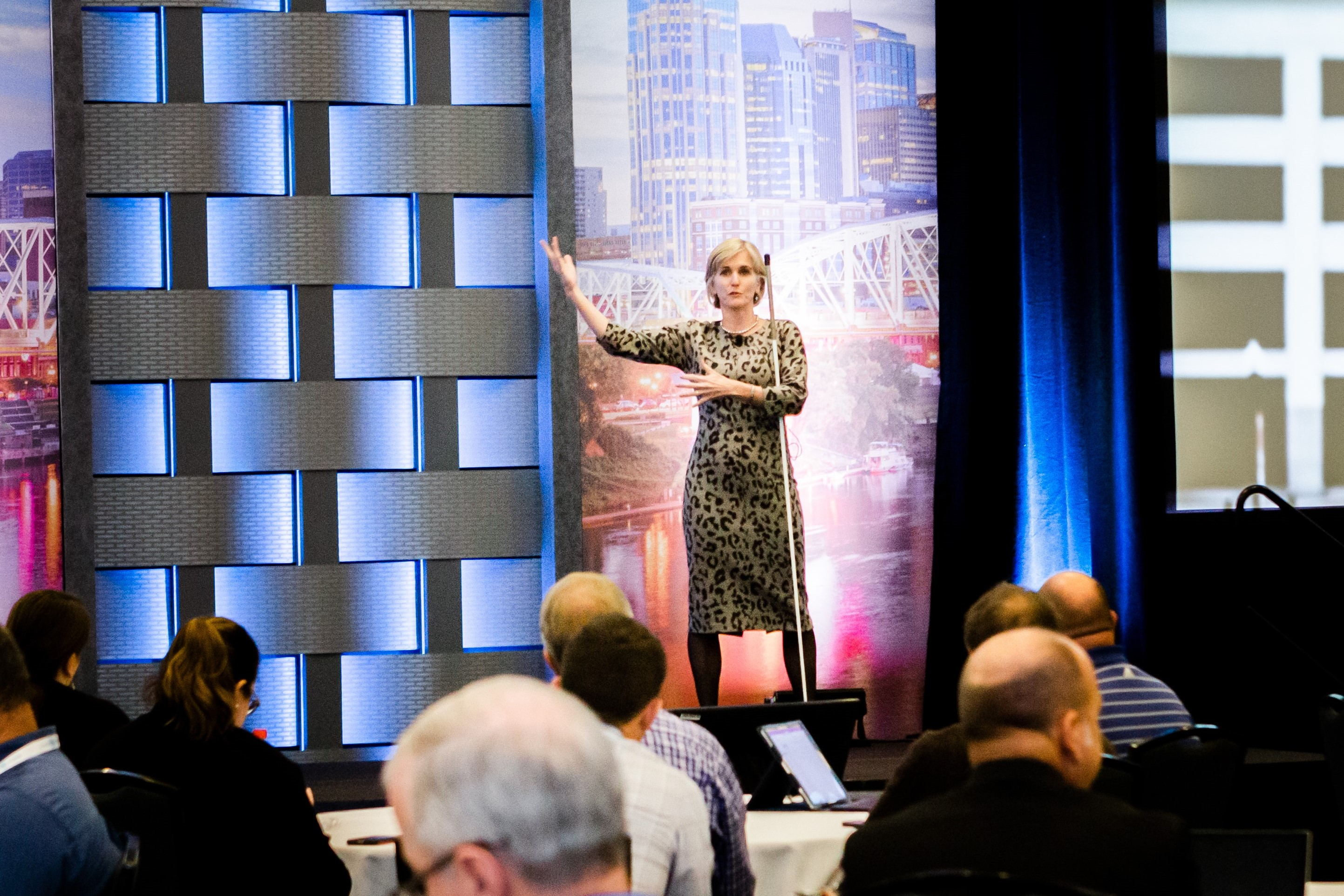 image of Kristen Cox speaking at ICMA 2019 Annual Conference