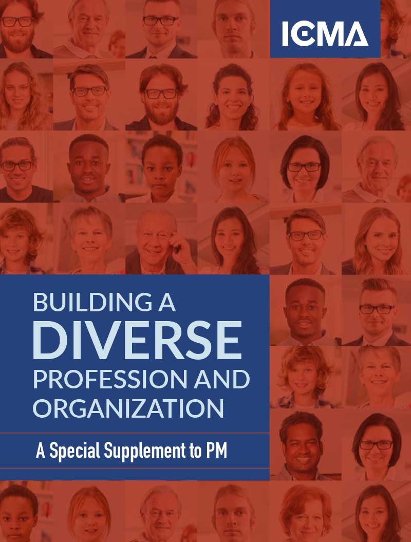 cover of supplement to PM on diversity in the profession and ICMA