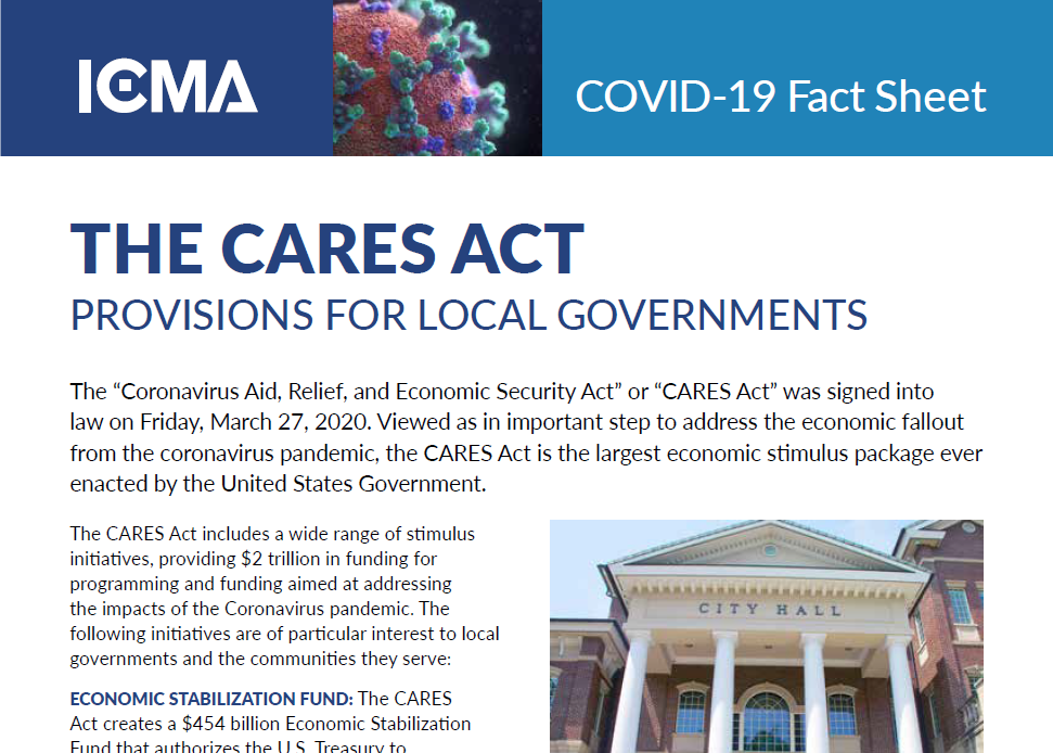 front page of CARES Fact Sheet