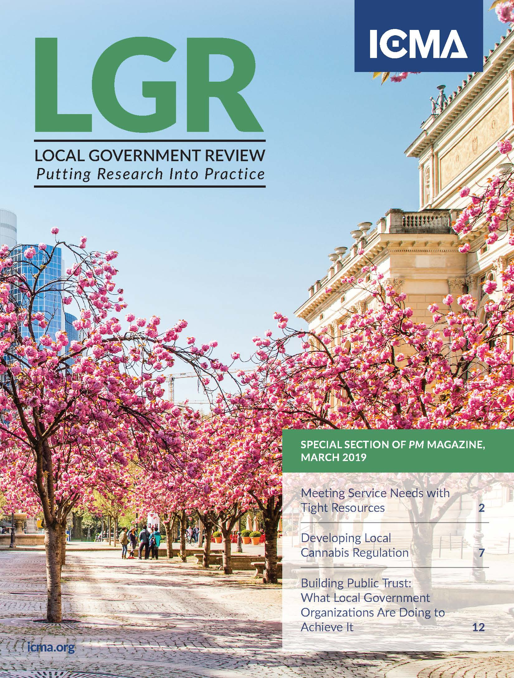 LGR local government review cover march 2019