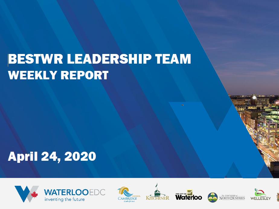 cover of waterloo report