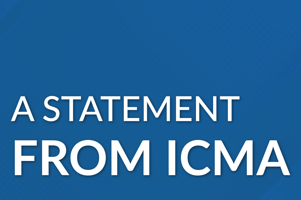 a statement from ICMA