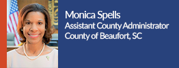 headshot of monica spells the assistant county administrator of the county of beaufort, south carolina