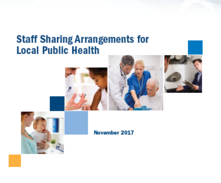cover of case study report on public health shared staff