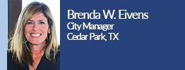 headshot of brenda eivens city manager of cedar park texas