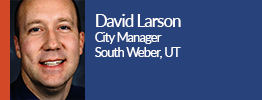 headshot of david larson the city manager of south weber, utah
