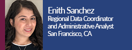 headshot of enith sanchez the regional data coordinator and administrative analyst for the city and county of san francisco california