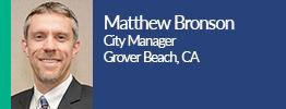 headshot of matthew bronson city Manager grover beach california