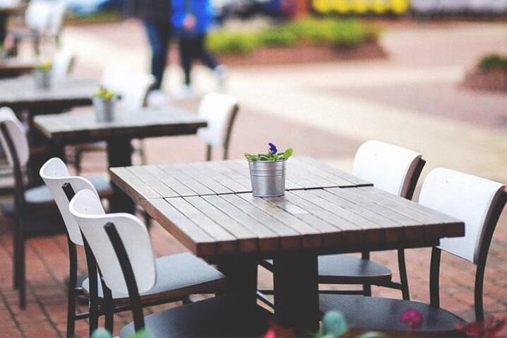 Public spaces outdoor seating